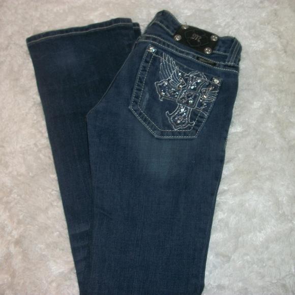 Miss Me Denim - Miss Me Jeans Size 28x32 Distressd Embellished
